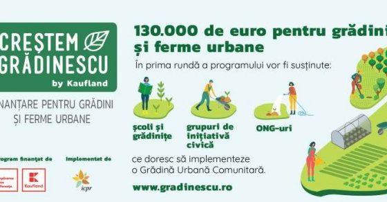 """Kaufland România lansează """"Creștem Grădinescu"""""""